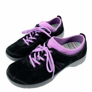 Dansko Suede Sneaker Slip Resistant Shoe Black 40